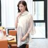 Shanghai Story (история SHANGHAI) г-жа шелк шерстяной шарф осенью и зимой теплый шарф платок элегантный розовый полосы пальто alix story alix story mp002xw13vur