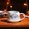 A Ting ландшафт керамическую кружку кофе в серии 12 оз. a ting керамические grande конус кубок 12 оз набор 2 с салфетку
