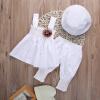 принцесса ребенка дети девочек максимум платье + штаны + шляпу 3pcs свадьбу костюмы, костюмы, костюмы