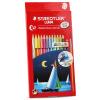 Стрикленд дом (Staedtler) 13710C12 12 цвета водорастворимого цвет свинец / цветной карандаш / цвета свинца / окраска перо (подарок кисть) цветной сургуч перо для письма купить в украине