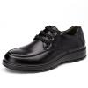 Aokang мужские деловые повседневные туфли удобные британские низкие туфли круглый головной ремень обувь 153311076 черный 41 ярдов
