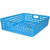 INOMATA складе Корзина серии импортных кухонные пластиковые корзины для хранения закуски ящик для хранения стола отделка корзины синий 4570BU
