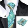 Н-0333 моде мужчины Шелковый галстук набор галстук Запонки платок синий Новинка набор галстуков для мужчин формальных Свадебный бизнес оптом