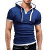 Men'S T Shirt 2017 Summer Fashion Hooded Sling Short-Sleeved Tees Male T-Shirt Slim Male Tops 5XL стул coleman summer sling 205147