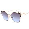 старинный полигон солнцезащитные очки женщины бренд-дизайнер металлический розовый модные солнцезащитные очки женские uv400 сергей бойко полигон