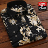 Фото - Business Gentleman Youth Men Long Sleeve Shirt Spring Autumn Silm Fit Fashion Floral Printing fashion business men