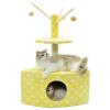 Покровительствовать chowsing игрушки кот кошки лазалки Царапины игрушки для животных сизаля кошачьих царапин поста двойных желтому