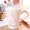 [Супермаркет] Jingdong душа фарфора кофейная чашка с крышкой любителей корейской керамические чашки кружки с ложкой костюм зодиака Козерог кружки из императорского фарфора купить в спб