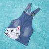 милый кот ребенка детей, мальчиков и девочек, ребенок деним джинсы комбинезон платье, юбку, одежда