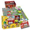 Красный Кенгуру мой город серии 64 полноцветных сборника пожарной части тема головоломки деревянные куклы раннего детства обучающие игрушки Подарочный набор деревянные игрушки plan toys мой первый мобильный телефон