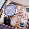 мода женева римские цифры кварцевые часы Любовникичасынаручные часы  for Women&Men