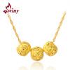 Единственный (Вини) 925 серебряный кулон ожерелье женские модели ключицы цепи переносчиков счастливые золотые бусины Pearl River