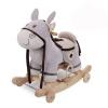 Голубой замок для детей 1-3 лет Троянский конь тряхнул ребенка раннего детства образовательные музыкальные игрушки плюшевые игрушки колесо древесную золу фиолетовый + игрушки для детей