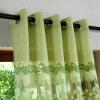 Розовые / зеленые цветочные выгорания Тюль-шторы для гостиной Прозрачные спальные шторы для детей Кухонные шторы Drapes