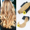7Pcs 120G Piano Color #27 Fading TO #613 Brazilian Remy Hair 14-24 Straight Hair Full Set Clip In Hair Extensions free shipping remy clip in hair extensions brazilian virgin straight hair color 1b huaman hair clip on full head 8pcs set
