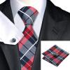 n-0342 Vogue мужчин шелковым галстуком набор plaids & проверить галстук платок запонки набор связей для мужчин официальный свадебный бизнес оптом n 0482 vogue мужчин шелковым галстуком набор plaids