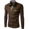высокое качество новая мода мужчины слим чистые цвета с длинными рукавами блузка платье рубашка рубашка b young 803268 80032