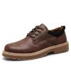 отдых в стиле ретро и плоскими, кожаную обувь, мужские ботинки ботинки в стиле вестерн