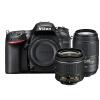 Никон (Nikon) D7200 зеркальные линзы комплект бис (AF-DX-P 18-55 f3.5-5.6G VR + DX 55-300mm f4.5-5.6G стабилизация стабилизация объектива) Черный фотоаппарат зеркальный nikon d3400 af p 18 55 ii kit