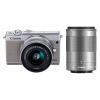 Canon (Canon) EOS M100 миниатюрный одиночный комплект головки Gray (EF-M 15-45mm) и (EF-M 55-200mm) canon canon eos m100 микродвигателей один белый корпус