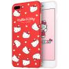 7/8 Plus Hello Kitty Apple, телефон оболочки iPhone7 / 8 Plus защитный чехол мультфильма все включено силикона мягкая оболочка Выдерживает падение 5,5 дюйма красный возлюбленная Hello Kitty * apple чехол iphone6 5s 4s 5c hello kitty