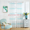 Sky Blue горизонтальные полосатые занавески для гостиной Window Sheer Curtains для спальни Современные занавески для детей Striped Tulle для спальни