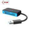Ван Бяо (ССК) SCRM330 USB3.0 высокоскоростной читатель мульти-карта поддерживает TF \ SD \ CF-карты и другие мобильные телефоны, фотоаппараты