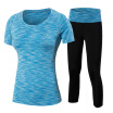 Yoga Set Workout Running Compression Leggings Tights Costumes WomenS Shirts