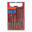 8pcs 2 Pits 2 Slots SDS Shank YG8 Carbide Masonry Drills Rotary Hammer Impact Drill Bits Set for Drilling Concrete Brick Tile 5mm-