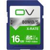 OV SD card 16G 80MB  s memory card class10 high-speed storage SDHC SLR digital camera professional high-definition camera car flash memory card blue