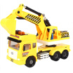 Lefei Lefei simulation car Inertial city music special construction car 9883 Large excavator with light concert Tell the story
