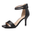 WETKISS 2017 Brand Women Summer Sandals Gladiator Ankle Strap Cover Heel High Heels Sandals Women Open toe Dress Shoes Woman