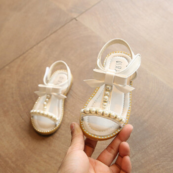 Girls Sandals 2018 Summer New Children Shoes Fashion Princess Sandals Pearl Beading Child Sandals Baby Sandals Beach Sheos