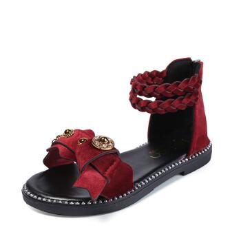 Kids Sandals Girls Summer Shoes Children Sandals Fashion Girl Princess Shoes Kids Bow Flat Rome Sandals Girls Gladiator Sandals