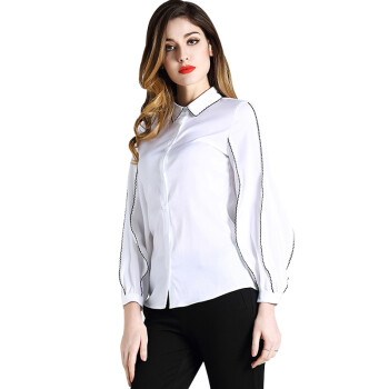 BURDULLY New Arrival Spring 2018 Silk Blouses For Women Work Wear formal Office Ladies Blouses And Tops Long Sleeve White Shirts