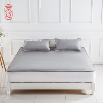 Beijing made the first layer buffalo leather three-piece folding leather air conditioning soft leather mat with leather pillowcase 18 m bed Iceland gray