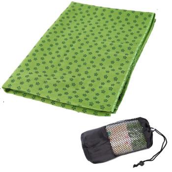 Kay speed environmental protection thickening non-slip yoga shop towel plum blossom point anti-slip sweat yoga blanket yoga towel with net bag EA09 green