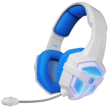Sades SA806 Long Headdress Headset Headset White Blue Headphones Headphones Headphones Headphones Headphones Headphones