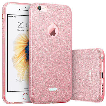 ESR iPhone6 ​​ 6s Mobile Phone Cases Cases 47 in Apple 6 6s Mobile Phone Cases Flash Pink Shoulder Protection Soft Shell Makeup Series Rose Gold