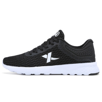 XTEP sports shoes couple men&39s net surface breathable simple breathable comfortable men&39s running shoes casual shoes black 45 yards