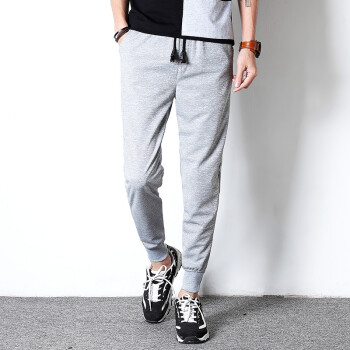 Lucassa casual pants men&39s casual harem pants trousers sports pants casual pants male K118 black XL
