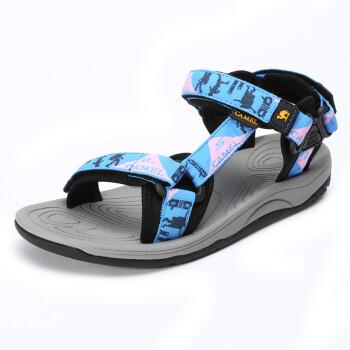 Camel CAMEL outdoor couple models beach shoes men&women anti-skid magic sticks comfortable sandals female A72162609 sky blue 35