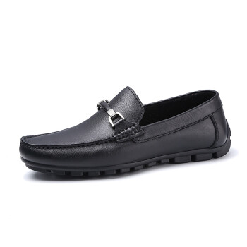 Crown CROWN Men&39s shoes leather shoes life Shoe cover feet round head light comfortable shoes 4121A621R2-black -39 yards