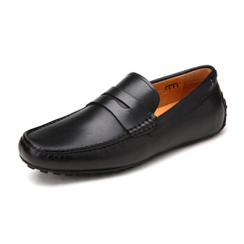 Crown CROWN men&39s shoes leather shoes business shoes feet light comfortable business shoes 2400A632G1-black -41 yards