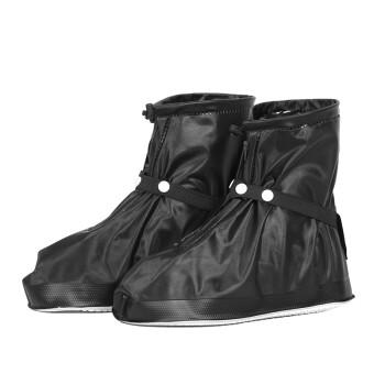 Eva Love Rain Shoe Cover Waterproof Rainy Day Anti-slip Waterproof Shoe Cover Men & Women Non-slip Thickening Wear-resistant Rainproof Shoe Jacket Black M