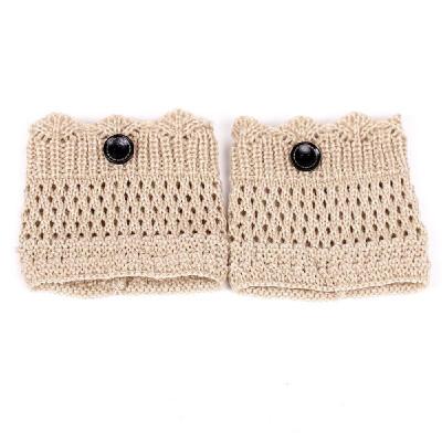 Stylish Comfortable Calf Cover Warm Socks Set Winter Crown Shaped Edge Calf Enveloped Short Sock