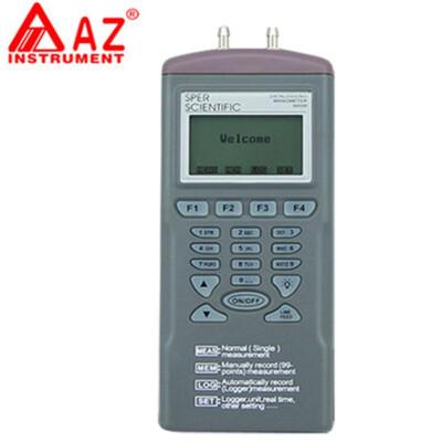 AZ9632 Digital LCD Dataloggers With Programmer AZ Differential Pressure Tester Meter Handy Pressure Datalogger 2Psi AZ-9632