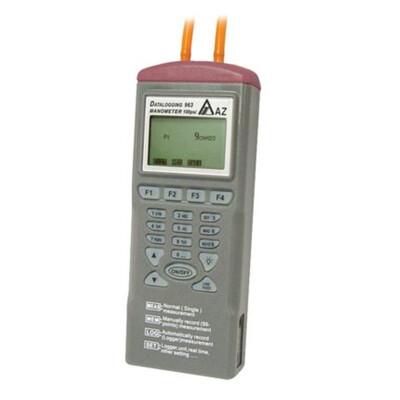 AZ9635 Digital Differential Pressure Datalogger Tester Meter Manometer with Software 11 Measuring Units