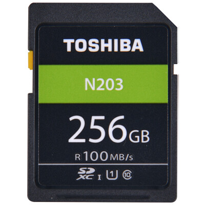 Toshiba TOSHIBA 256GB read speed 100MB  SDXC Class10 UHS-I U1 support full HD shooting high speed camera memory card