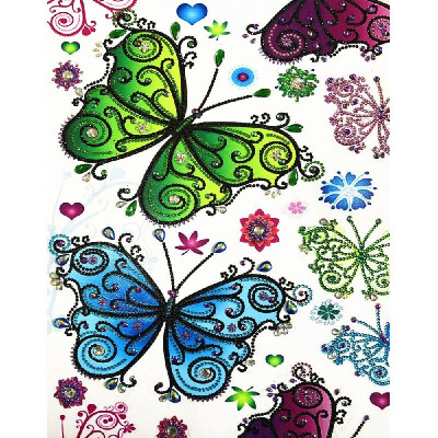 5d Diamond Painting Embroidery Cross Stitch Mosaic DIY Kit Floral Butterfly Rhinestone Home Decor